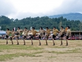 Students performing traditional dance by wearing their traditional apatani attire